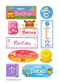 Betina, nombre para stickers