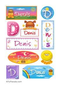 Denis, nombre para stickers