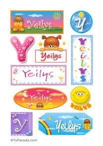 Yeilys, nombre para stickers
