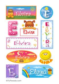 Elvira, nombre para stickers