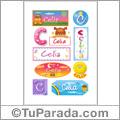 Celia, nombre para stickers