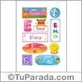 Ema, nombre para stickers