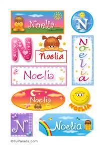 Noelia, nombre para stickers