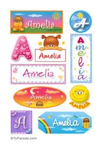Amelia, nombre para stickers
