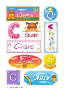 Charo, nombre para stickers
