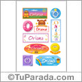 Oriana, nombre para stickers