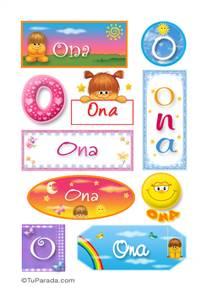 Ona, nombre para stickers
