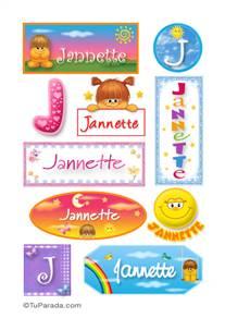 Jannette, nombre para stickers