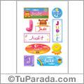 Judit, nombre para stickers