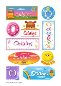 Odalys, nombre para stickers