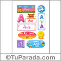 Ava, nombre para stickers