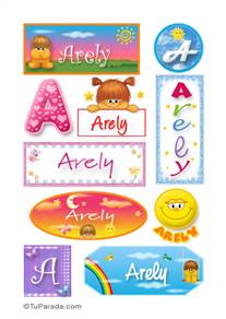 Arely, nombre para stickers
