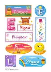 Elynor, nombre para stickers