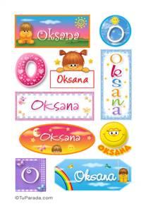 Oksana, nombre para stickers
