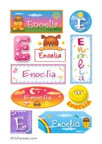 Enoelia, nombre para stickers