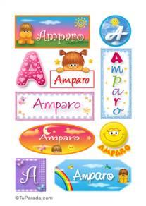 Amparo, nombre para stickers