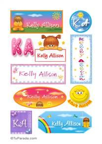 Kelly Allison, nombres para stickers