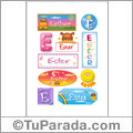 Ester, nombre para stickers
