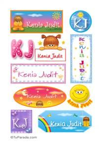 Kenia Judit, nombres para stickers