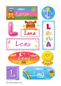 Lena, nombre para stickers