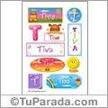 Tiva, nombre para stickers