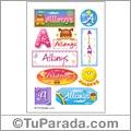 Allanys, nombre para stickers