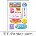 Briana, nombre para stickers