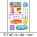 Soley, nombre para stickers