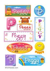 Peggy, nombre para stickers