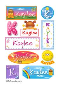 Kaylee, nombre para stickers