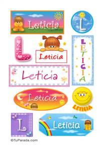 Leticia, nombre para stickers