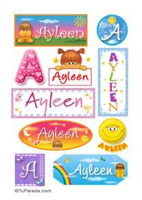 Ayleen, nombre para stickers