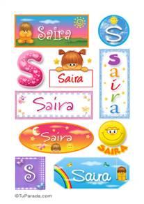 Saira, nombre para stickers