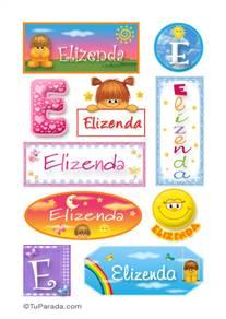 Elizenda, nombre para stickers