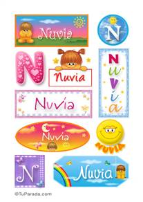Nuvia, nombre para stickers