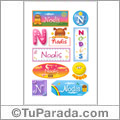 Nodis, nombre para stickers
