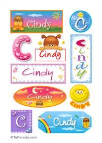 Cindy, nombre para stickers