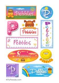 Pebbles, nombre para stickers