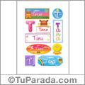 Tana, nombre para stickers