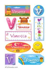 Vanessa, nombre para stickers