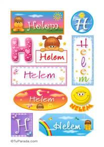 Helem, nombre para stickers