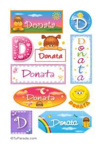 Donata, nombre para stickers
