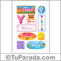 Yésica, nombre para stickers