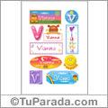 Vianna, nombre para stickers