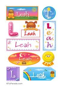 Leah, nombre para stickers
