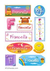 Francella, nombre para stickers