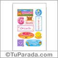 Gisselle, nombre para stickers