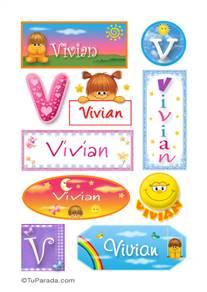 Vivian, nombre para stickers