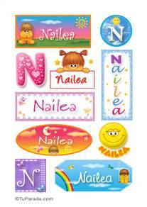 Nailea, nombre para stickers