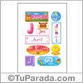 Jeril, nombre para stickers